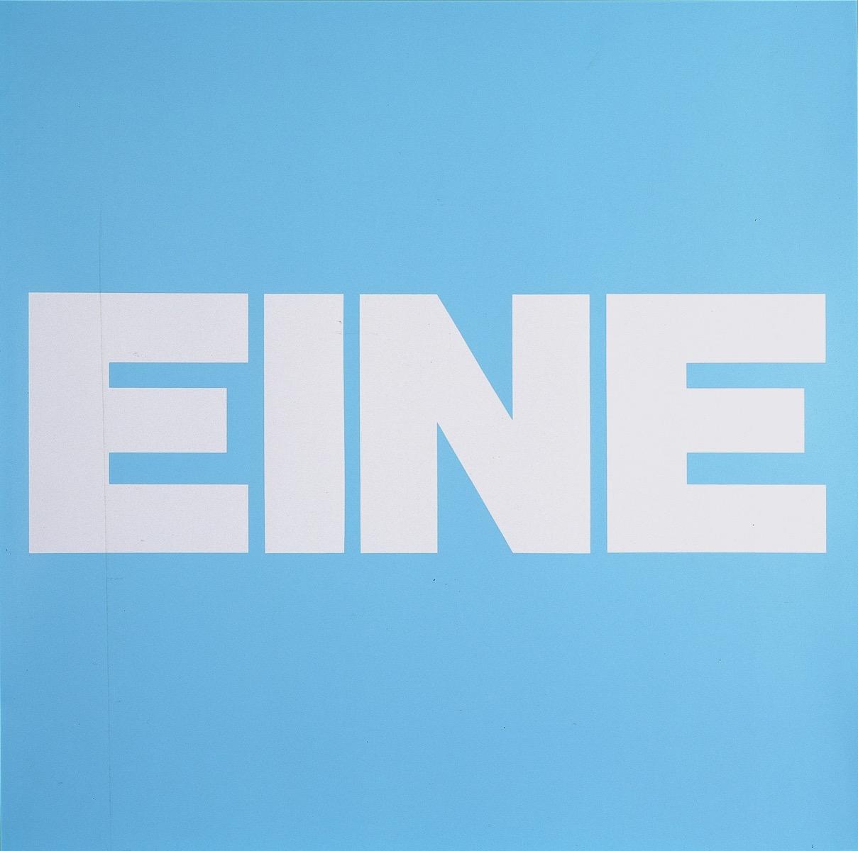 EINE, BLAU | Affirmation tut gut | Angelika Beuler | 1992