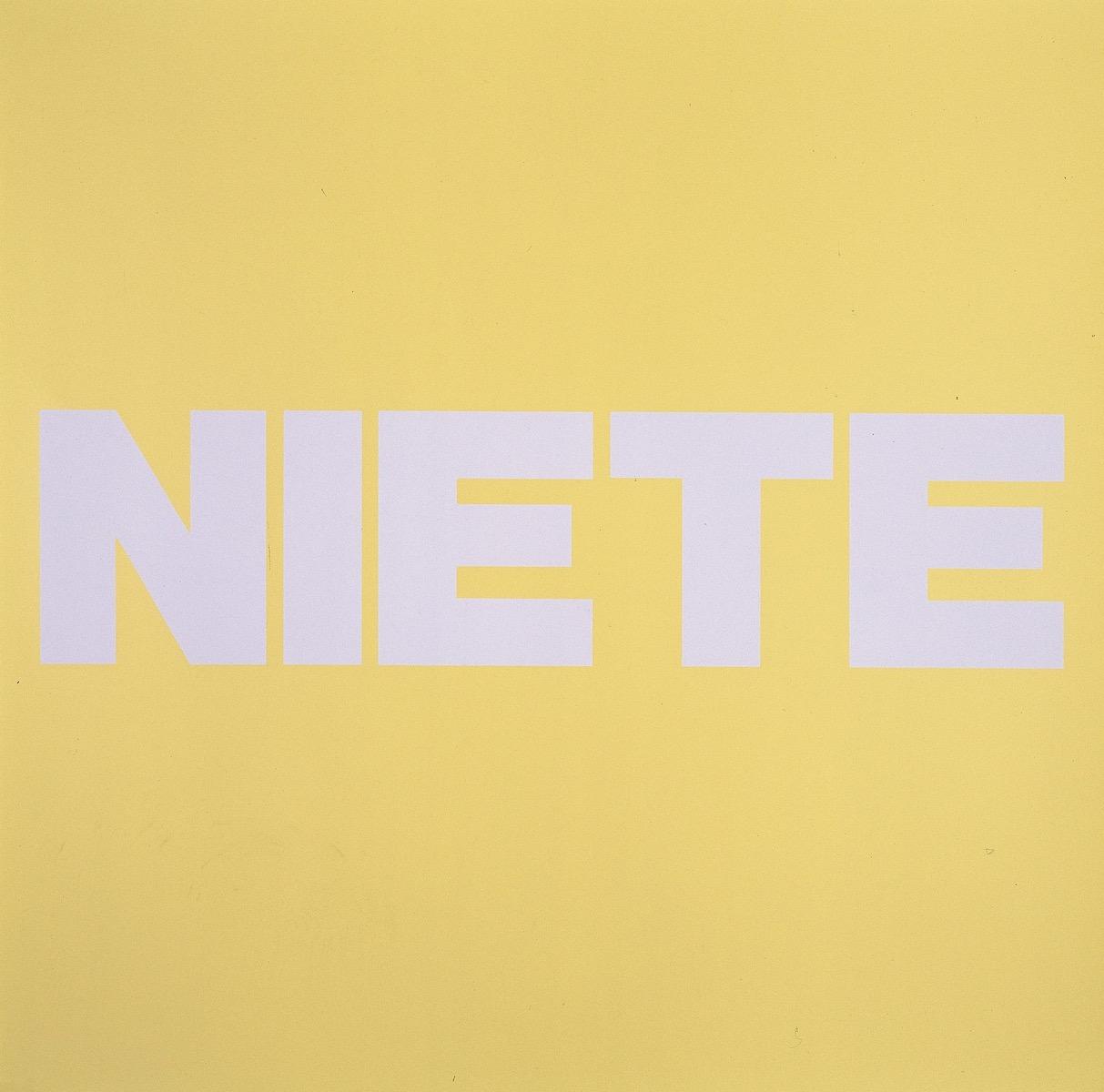 NIETE, GELB | Affirmation tut gut | Angelika Beuler | 1992