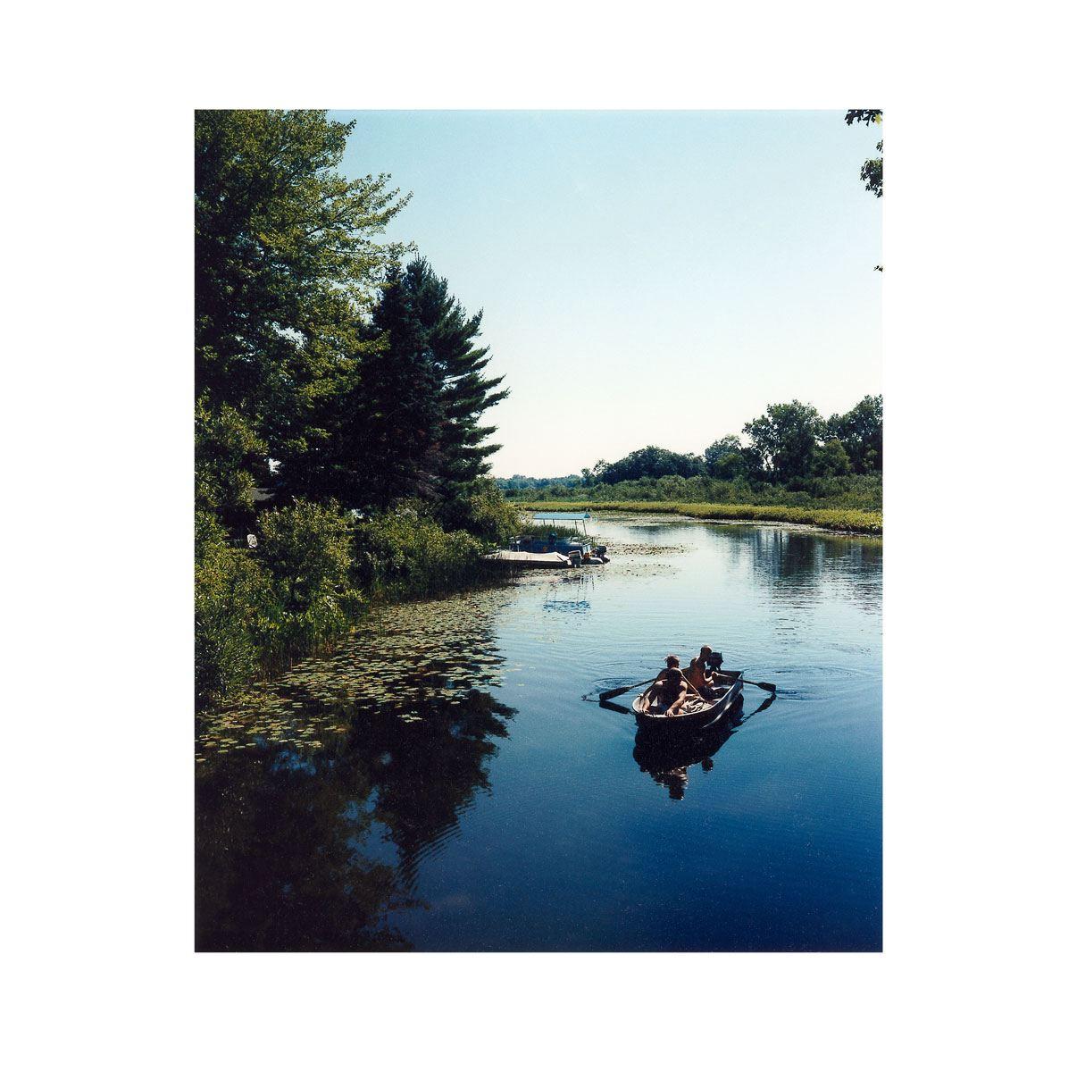"""Rowing"" | Village Portrait | Pentwater, Michigan, USA | 1996"