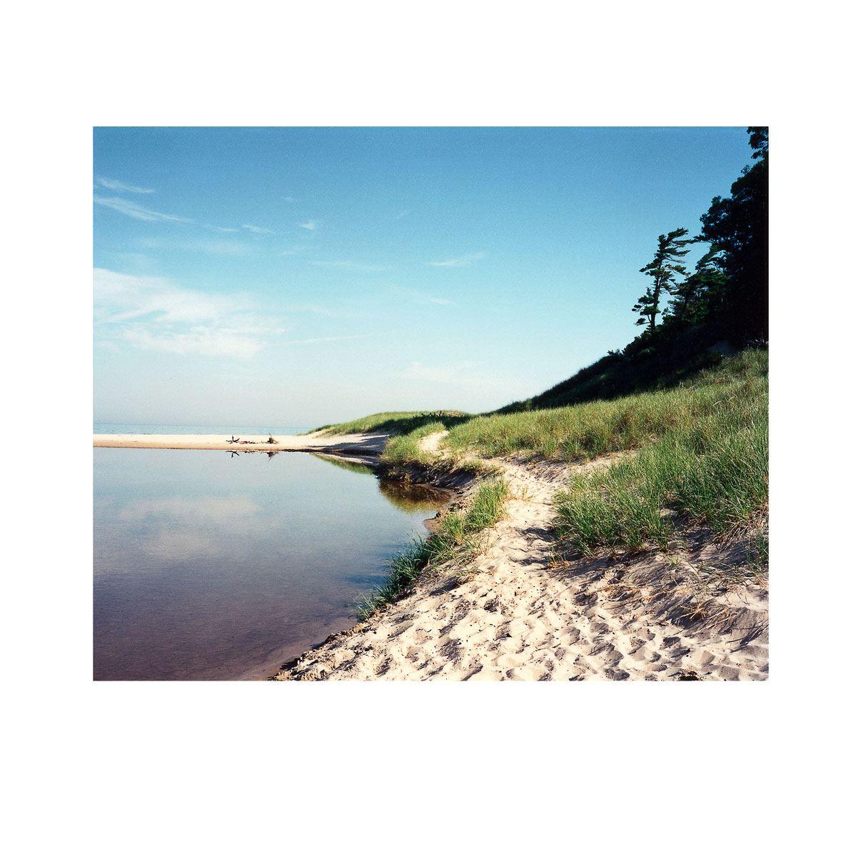 """Bass Lake Outlet"" | Village Portrait | Pentwater, Michigan, USA | 1996"