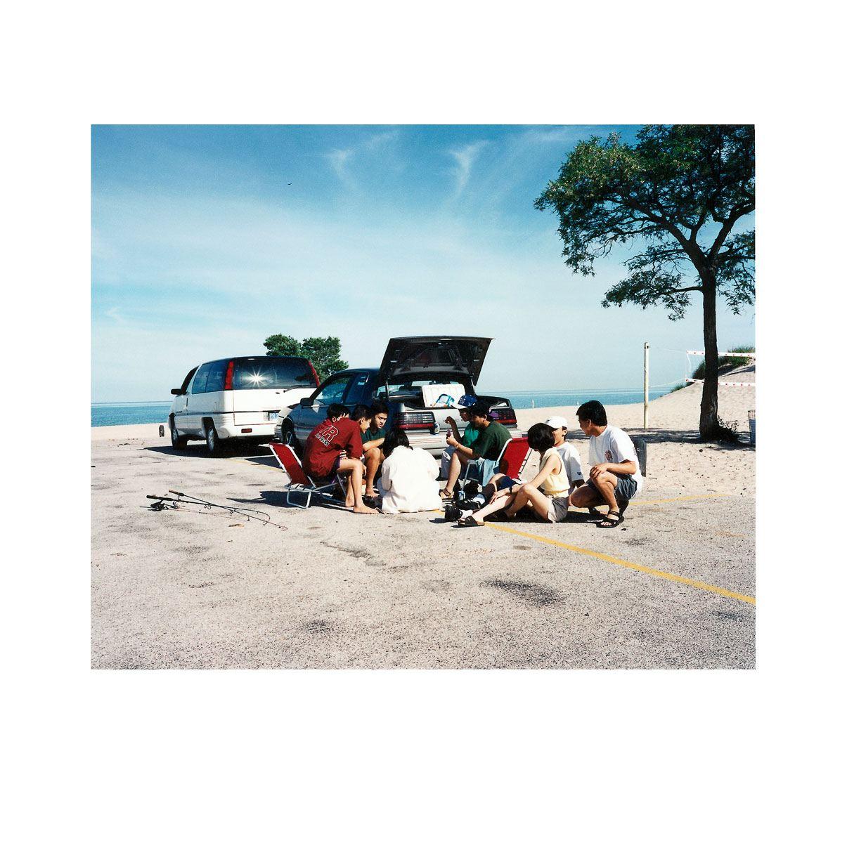 """Tourists"" | Village Portrait | Pentwater, Michigan, USA | 1996"
