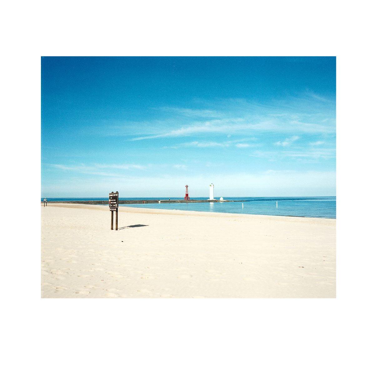 """Morning Beach 2"" | Village Portrait | Pentwater, Michigan, USA | 1996"
