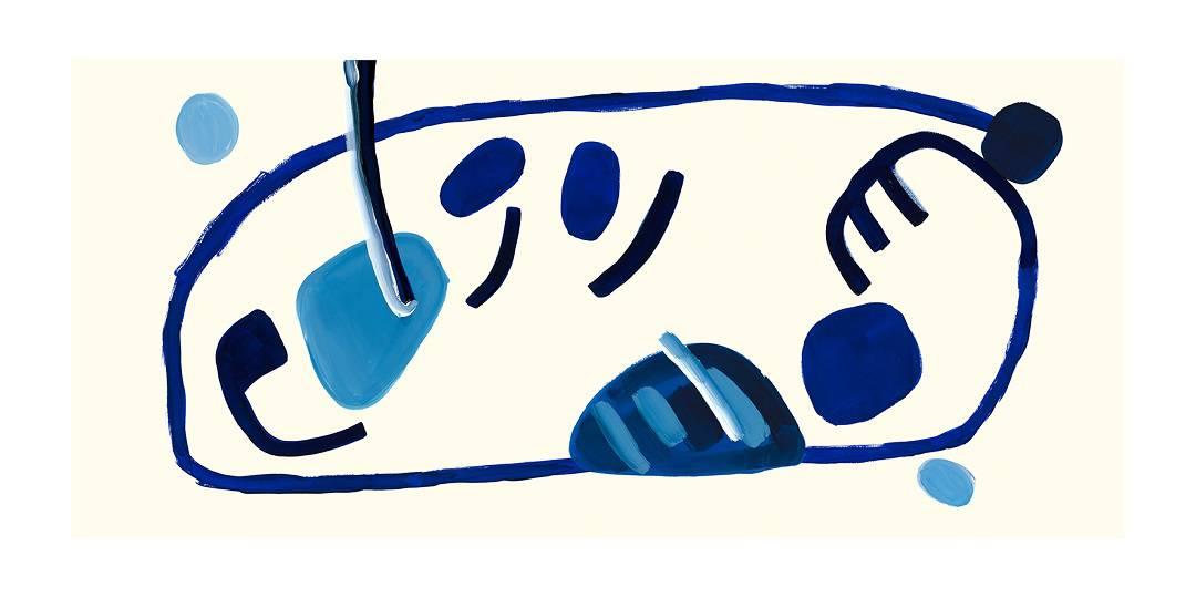 Cosmic Blue II, 2014   Digital Print on Paper