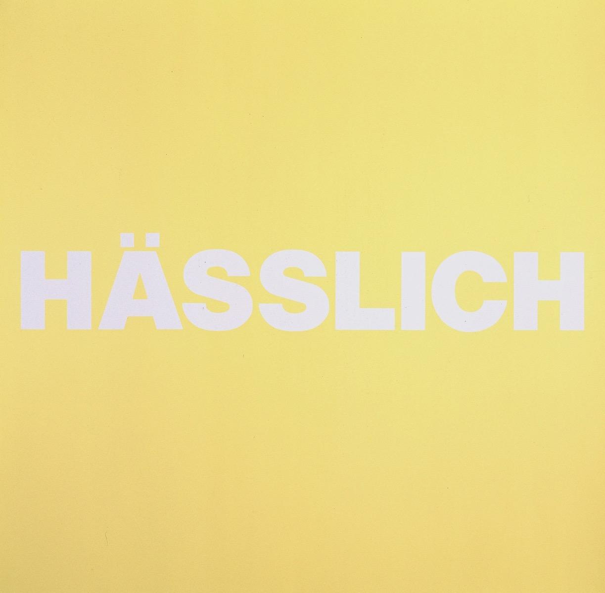 HÄSSLICH, GELB | Affirmation tut gut | Angelika Beuler | 1992