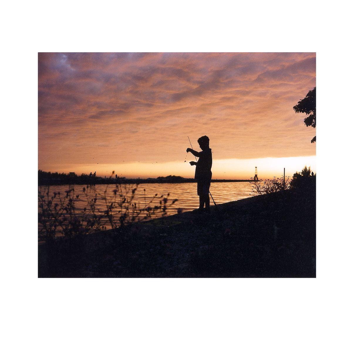 """Boy Fishing"" | Village Portrait | Pentwater, Michigan, USA | 1996"