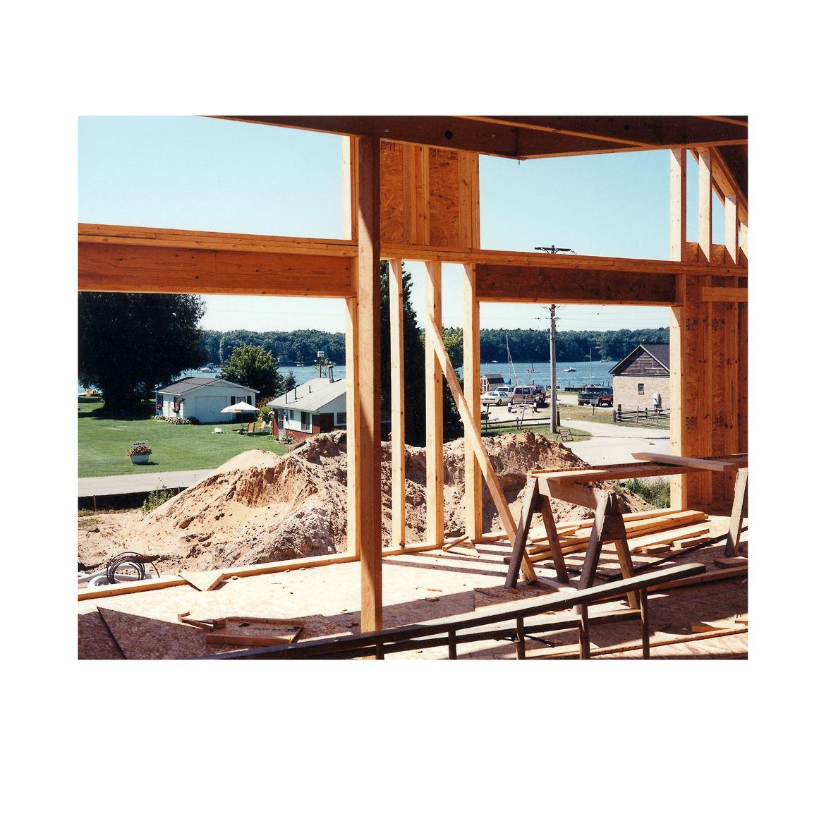 """House under Construction"" | Village Portrait | Pentwater, Michigan, USA | 1996"