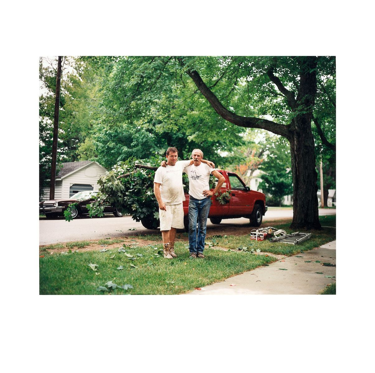 """Jim and Tom"" | Village Portrait | Pentwater, Michigan, USA | 1996"