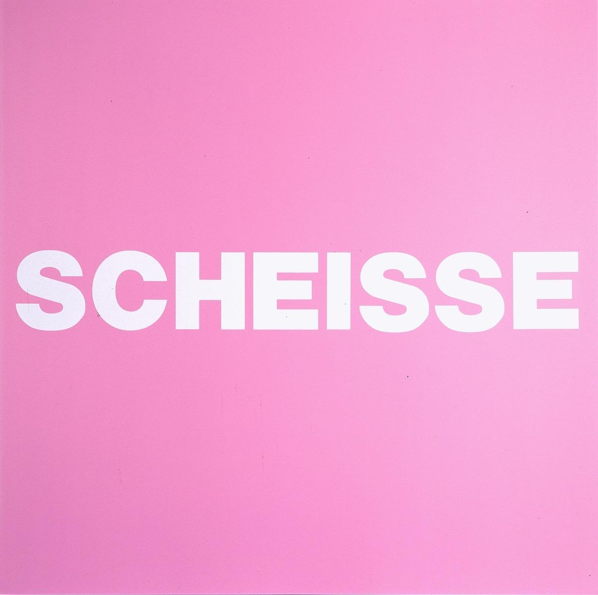 SCHEISSE, ROSA | Affirmation tut gut | Angelika Beuler | 1992