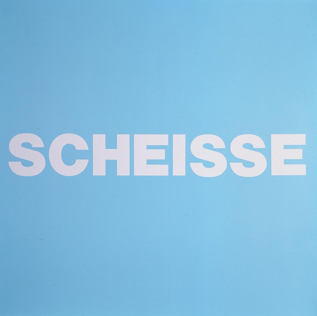 SCHEISSE, BLAU | Affirmation tut gut | Angelika Beuler | 1992