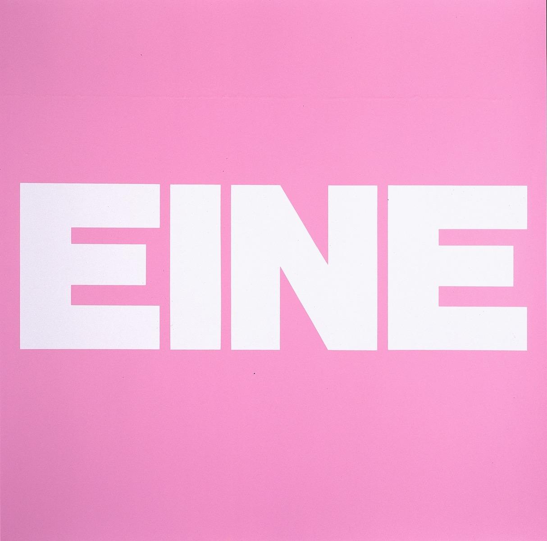 EINE, ROSA | Affirmation tut gut | Angelika Beuler | 1992